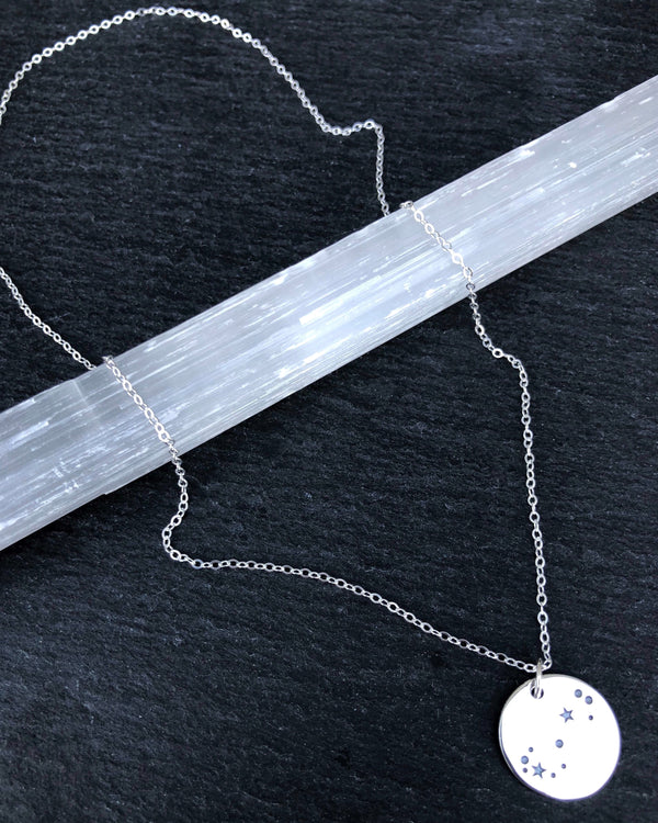 • SCORPIO • silver necklace