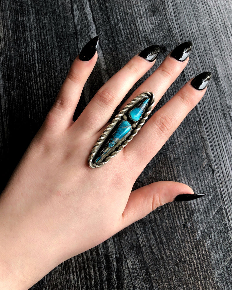 • TALON • Turquoise + Silver Ring