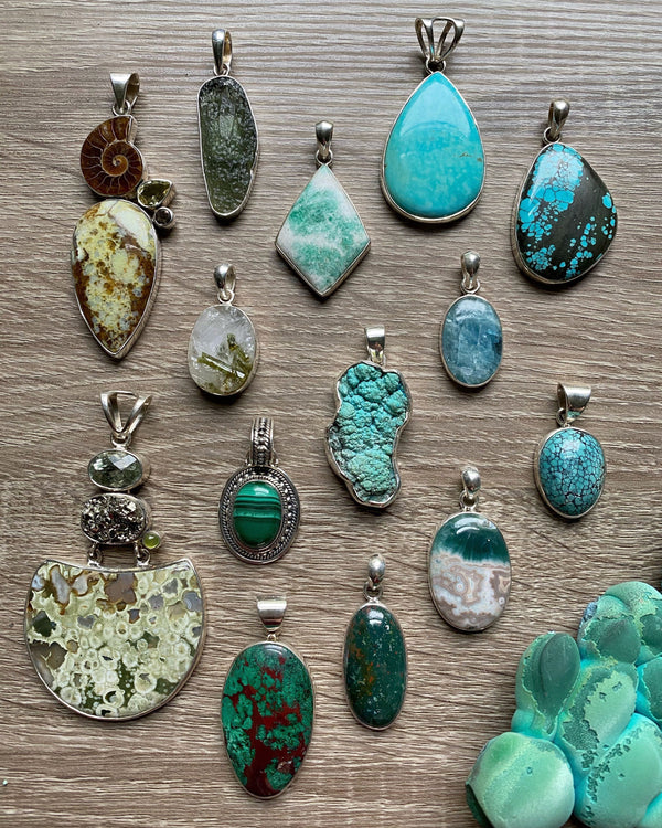 • WATER • pendants - green/aqua