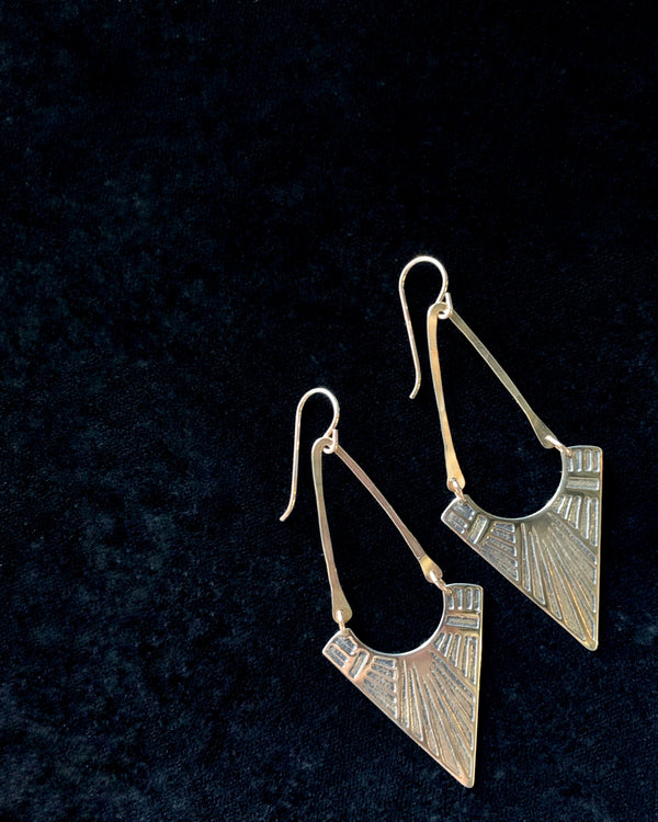 • VEGA • brass dangle earrings
