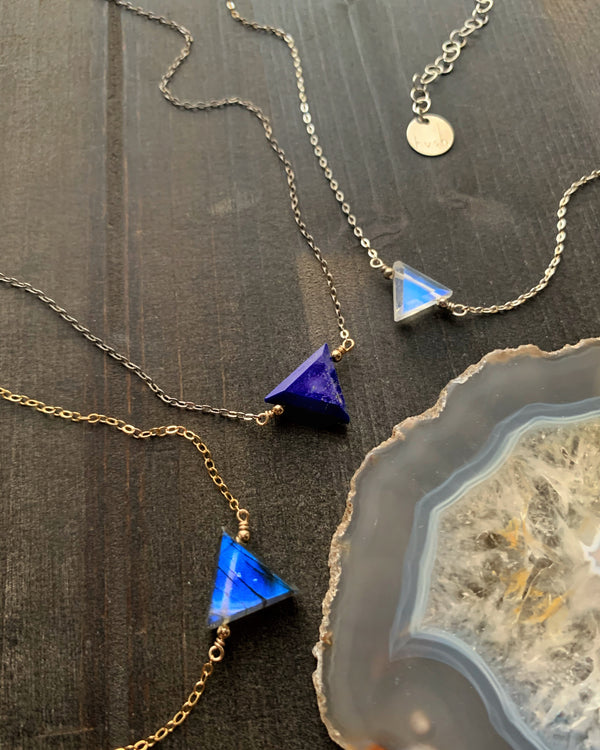 • STRAY • lapis-lazuli + silver necklace