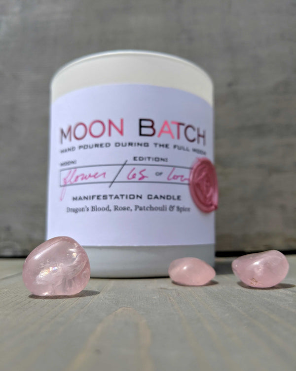 • MOON BATCH • crystal candle - eros blend