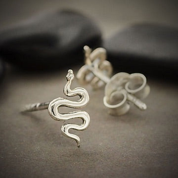 • SLITHERING SNAKE • silver stud earrings