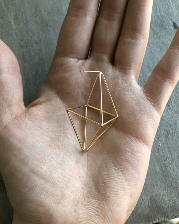 • OCTAHEDRON • posts - gold filled