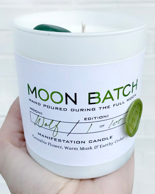 • MOON BATCH • crystal candle - green lady blend