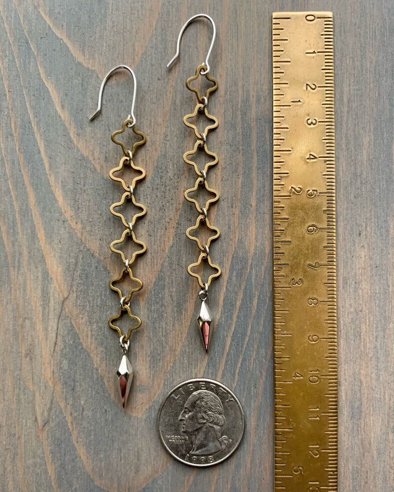 • COUNTY CLARE •  mixed metal earrings