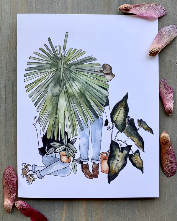 • PLANT BESTIES • medium note card