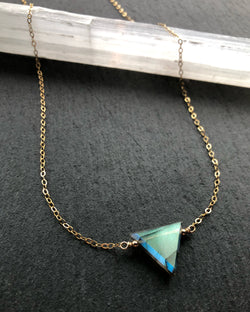 • STRAY • labradorite + gold necklace