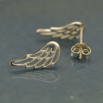 • GUARDIAN WINGS • silver stud earrings