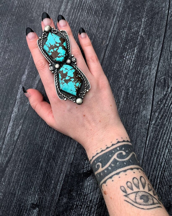 • ABALOS • turquoise + silver ring