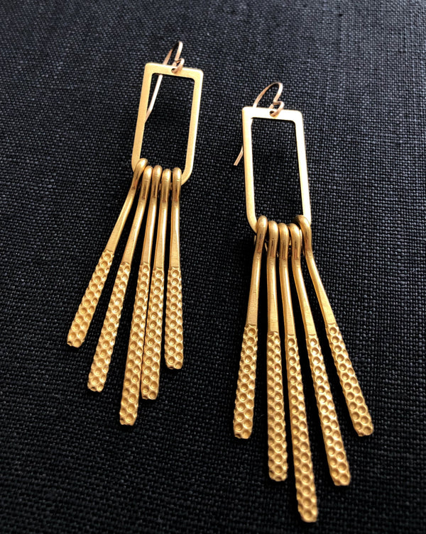 • FRINGE BENEFITS • dangle earrings