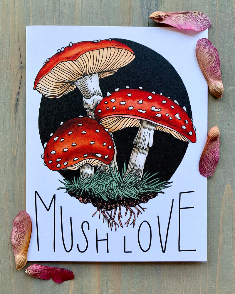 • MUSH LOVE • medium note card