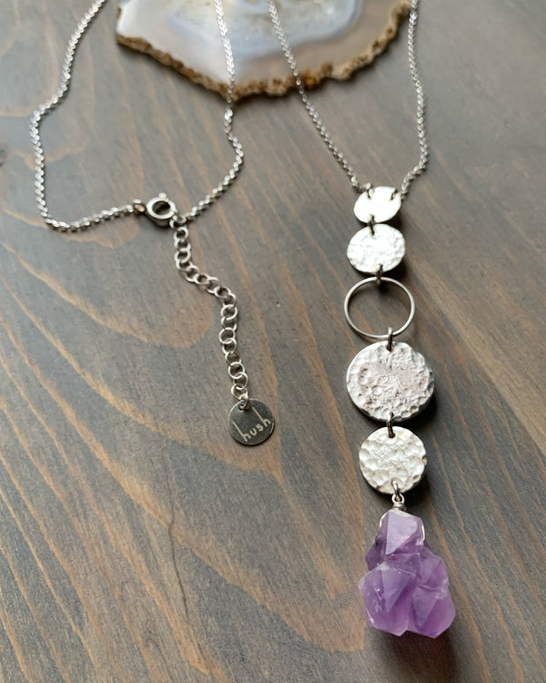 "• NYX • 28""-30"" elestial amethyst sterling silver necklace"