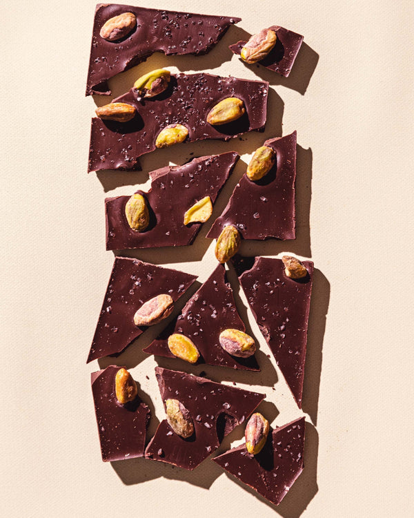 • SALTED PISTACHIO • GOURMET CHOCOLATE BAR