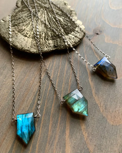 • STRAY • labradorite + silver necklace