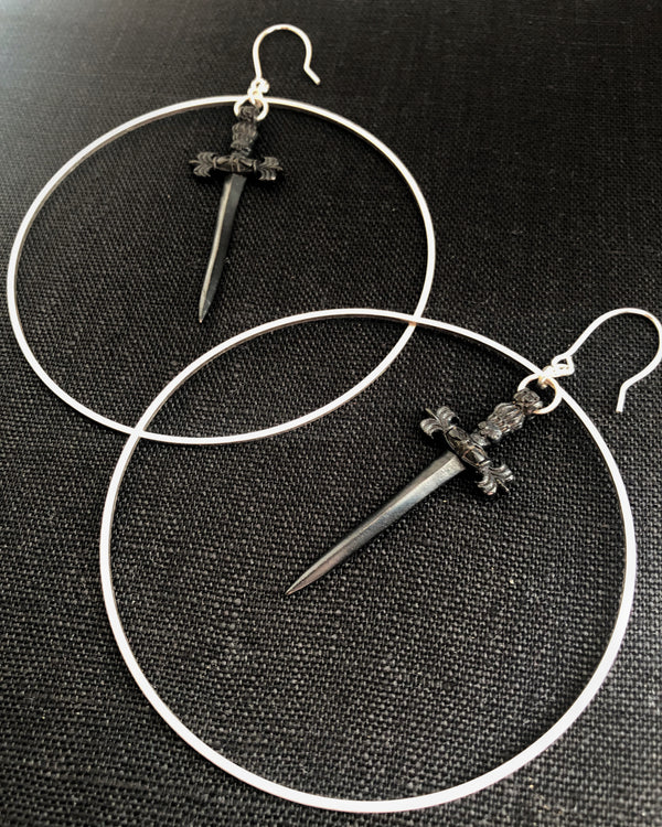 • DAGGER • hoop earrings