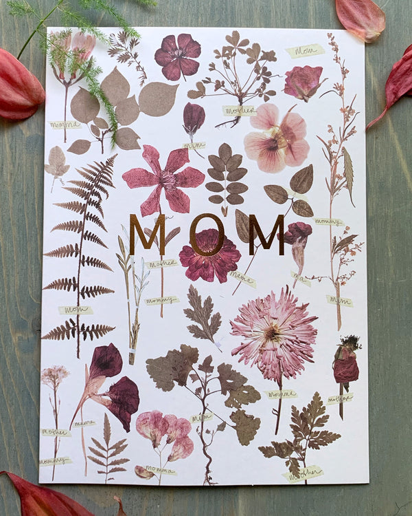 • MOM GARDEN • luxe note card
