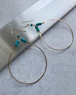 • DANCING GYPSY • turquoise + gold earrings