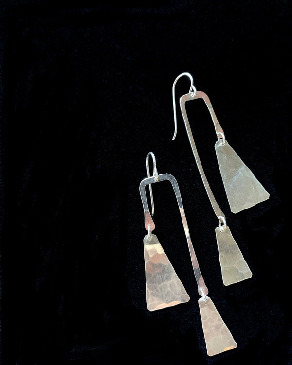 • EMI • silver dangle earrings