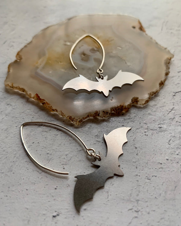 • DARK KNIGHT •  silver dangle earrings