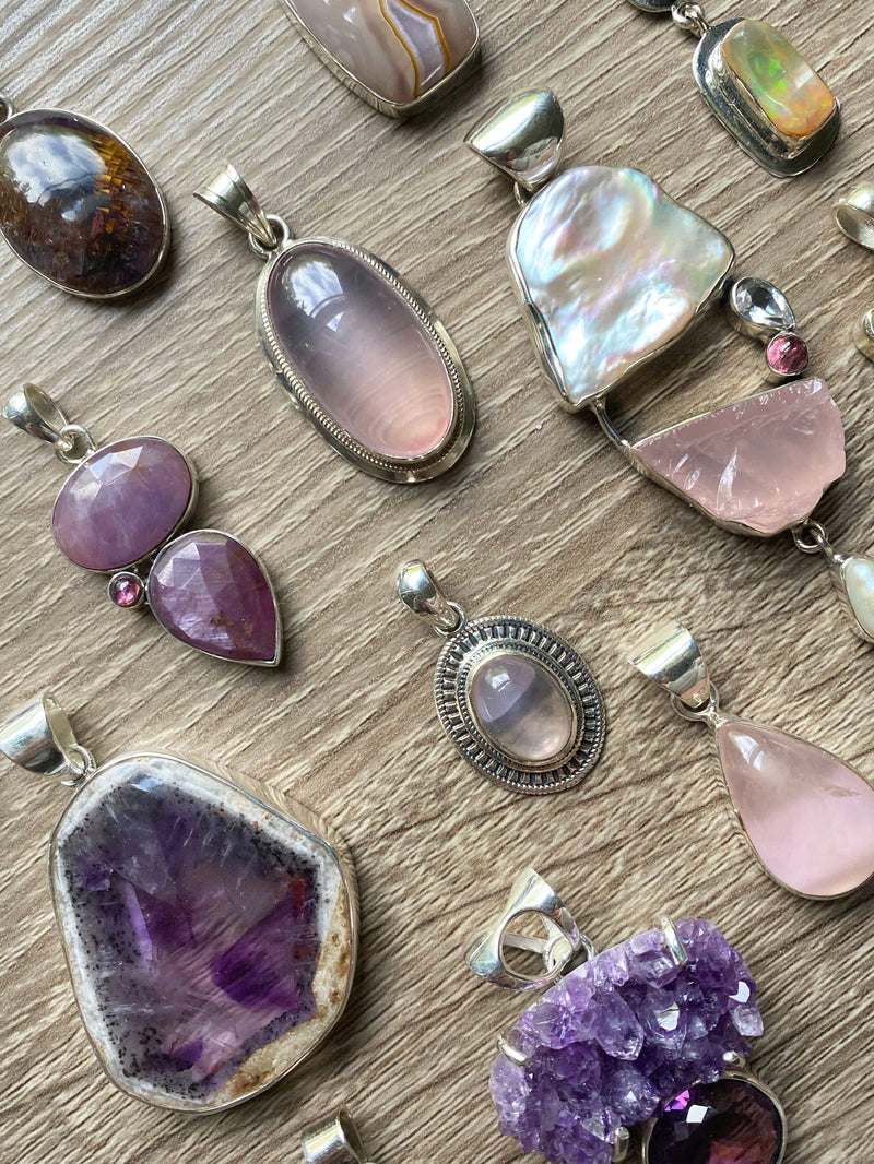 • AIR • pendants - pink + purple