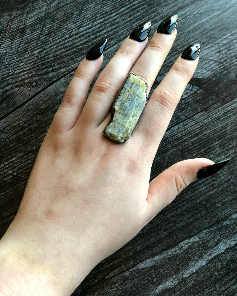 • VEIL • Kyanite + Silver Ring