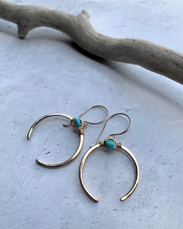 • CAPORAL • turquoise gold earrings