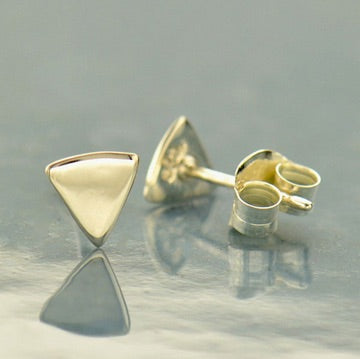 • FLAT TRIANGLE • silver stud earrings