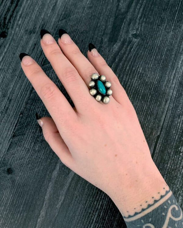 • PLANETARY • turquoise + silver ring