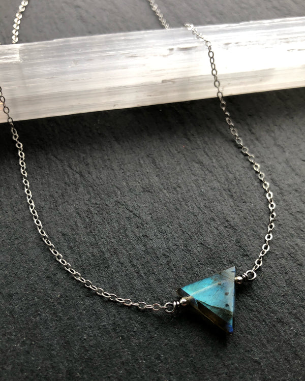 • AEON • labradorite + silver necklace