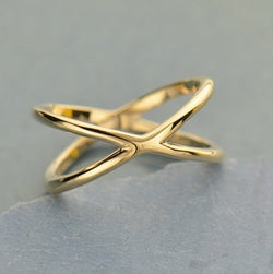 • CROSSED PATHS • bronze ring