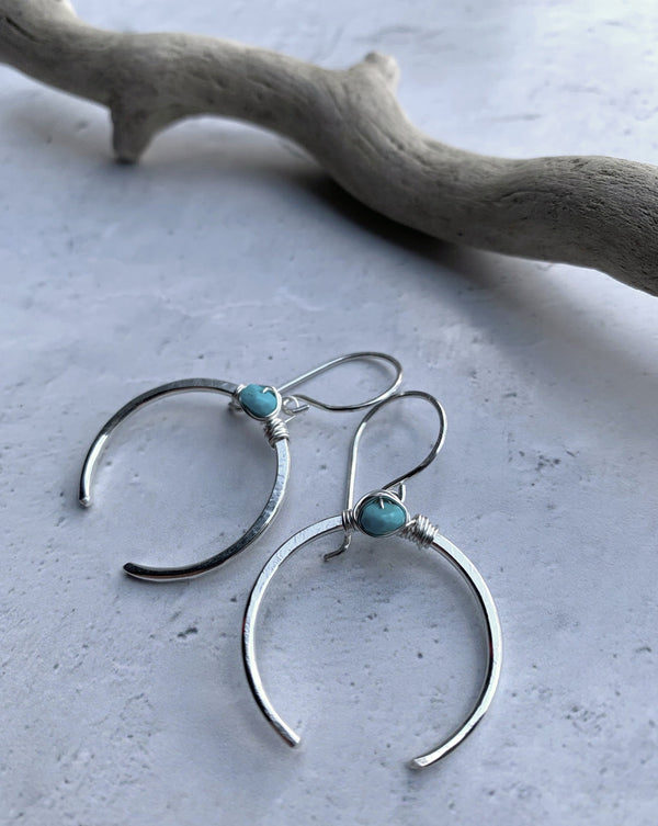 • CAPORAL • turquoise sterling silver earrings