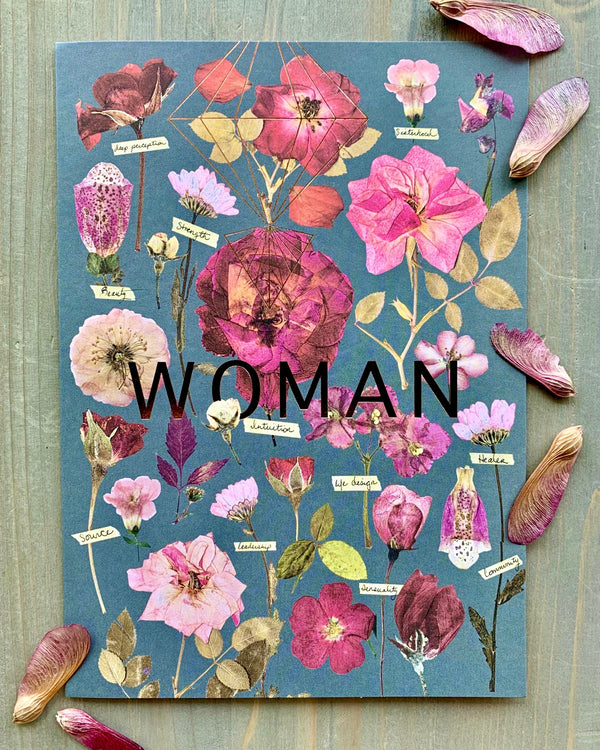 • WOMAN GARDEN • luxe note card