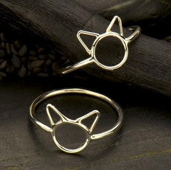• CAT FACE • silver ring