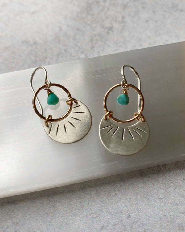 • NAVAJO • turquoise + mixed metal earrings