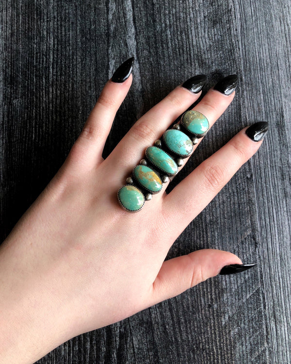 • STONE STACK • Turquoise + Silver Ring