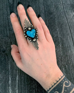 • IDOLATRY • Kingman Turquoise + Silver Ring