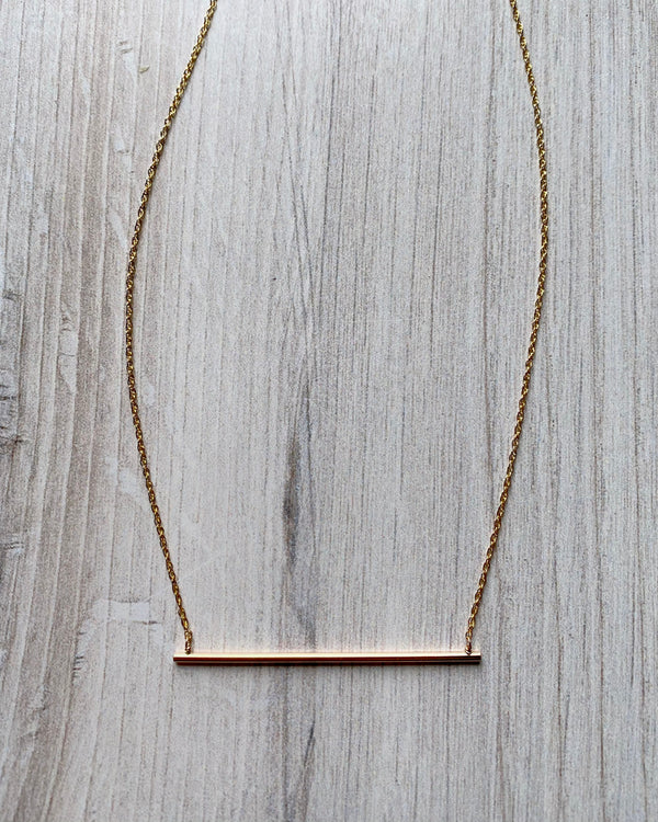 • UNDERSCORE • gold necklace