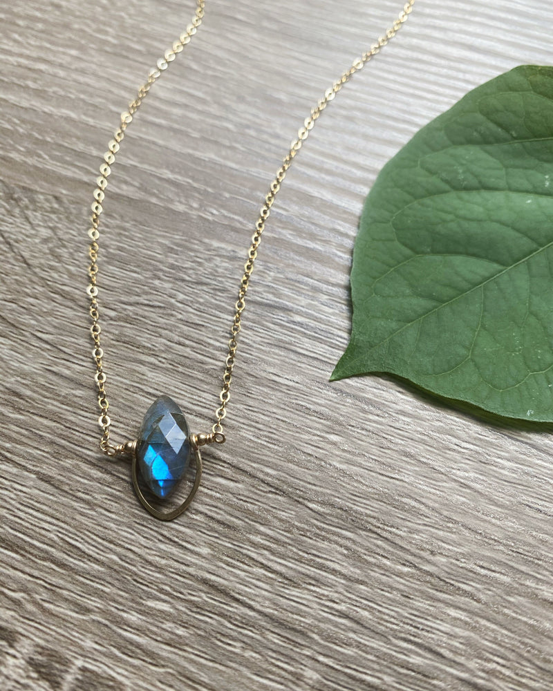 • LUCIDITY • labradorite gold necklace