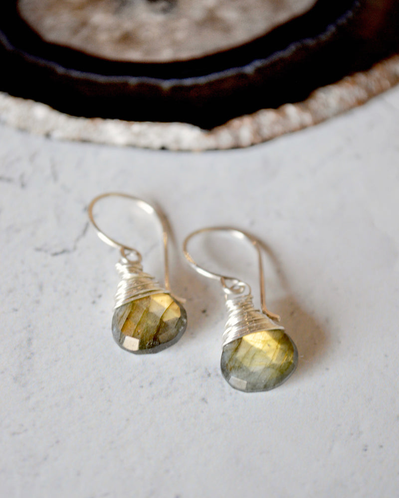 • SWEETCAKES • labradorite sterling silver earrings