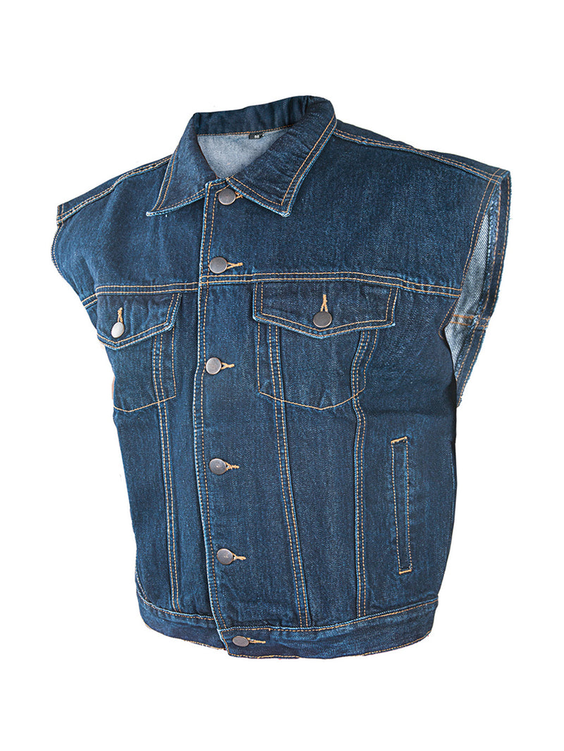 men's sleeveless vest jacket