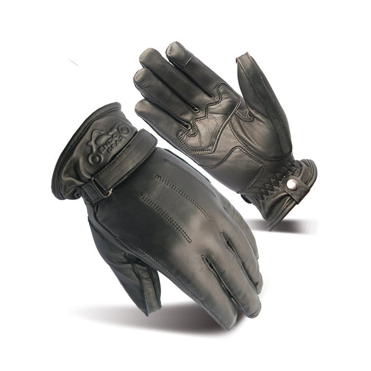 Kevlar Fabric Black Leather Motorcycle Racing Gloves