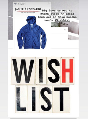 Tonn Indigo Hoody listed on an Australian Wish List