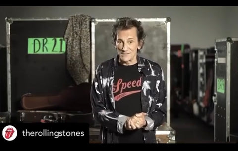 Ronnie Wood in Rolling Stones X Tonn tee shirt.
