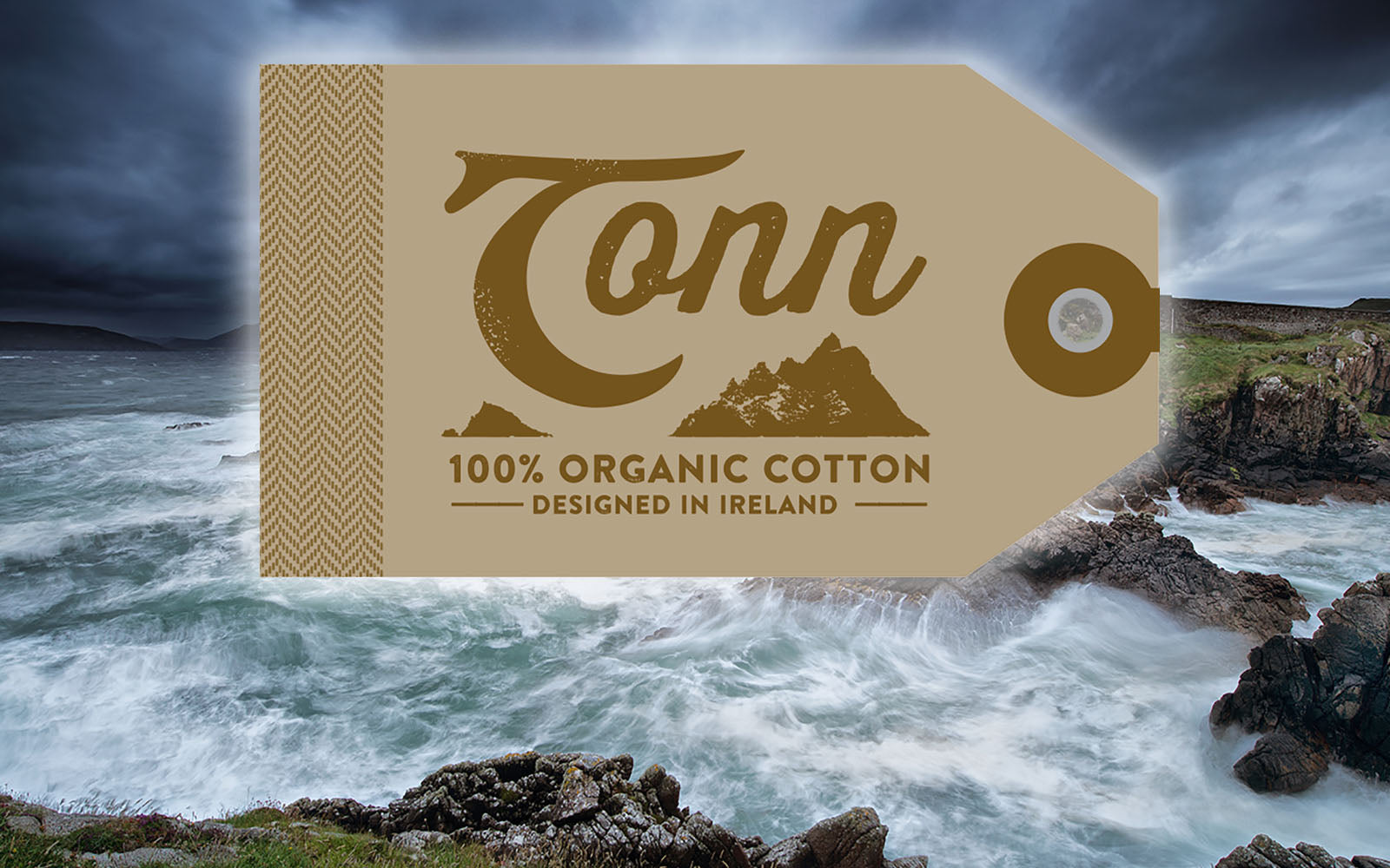 Tonn Organic t-shirts homepage- designed in Ireland