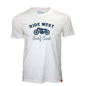Ride West Tee White