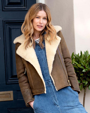 Ladies Sheepskin Biker
