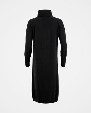 Supersoft Roll Neck Dress - Black