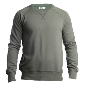 Mens Silver Strand Organic Cotton Sweatshirt Green