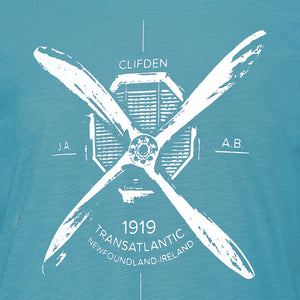 Atlantic Crossing Turquoise Tee
